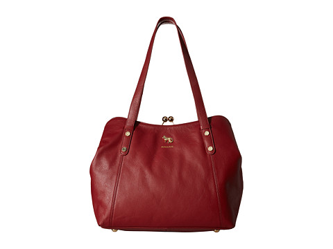Emma Fox - Dressage Frame Satchel (Deep Wine) Satchel Handbags