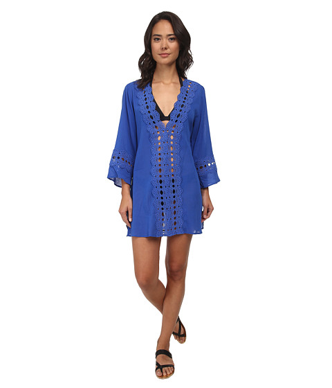 La Blanca - Solid Intuition Tunic Cover-Up (Cobalt) Women