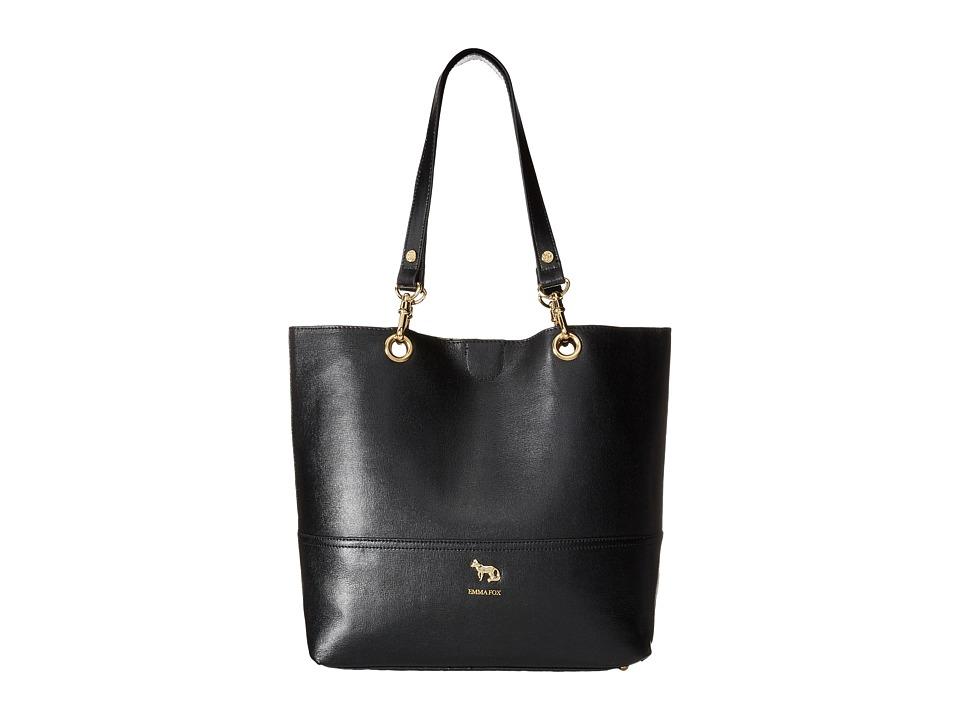 Emma Fox - Jutland Dome Satchel (Black) Satchel Handbags