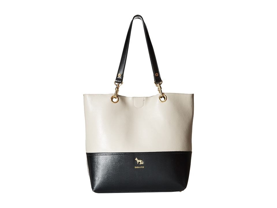 Emma Fox - Jutland Dome Satchel (Stone/Black) Satchel Handbags