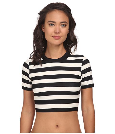 DKNY - Crop Scuba Shirt Cover-Up (Black) Women