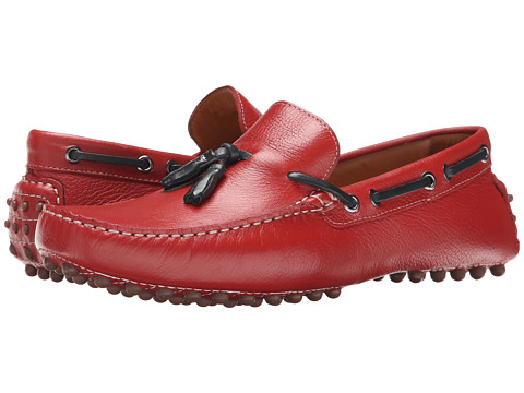 Massimo Matteo - Tassel Driver (Red) Men's Slip on Shoes