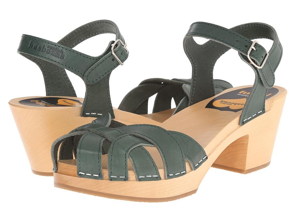 Swedish Hasbeens - Pearl High (Deep Green) High Heels