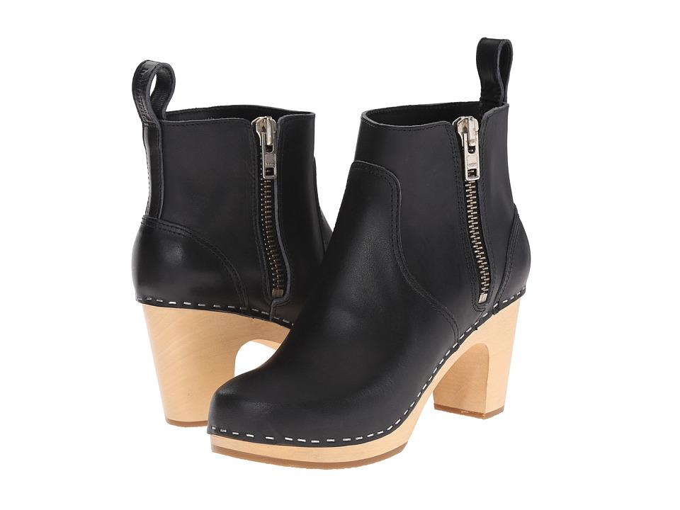 Swedish Hasbeens - Zip It Super High (Black) Women's Zip Boots