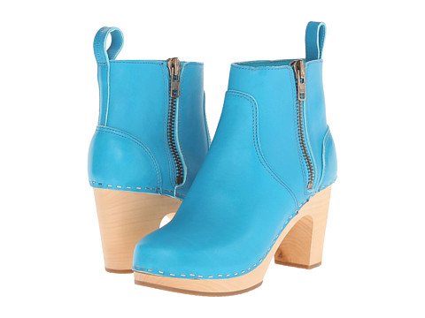 Swedish Hasbeens - Zip It Super High (Turquoise) Women's Zip Boots