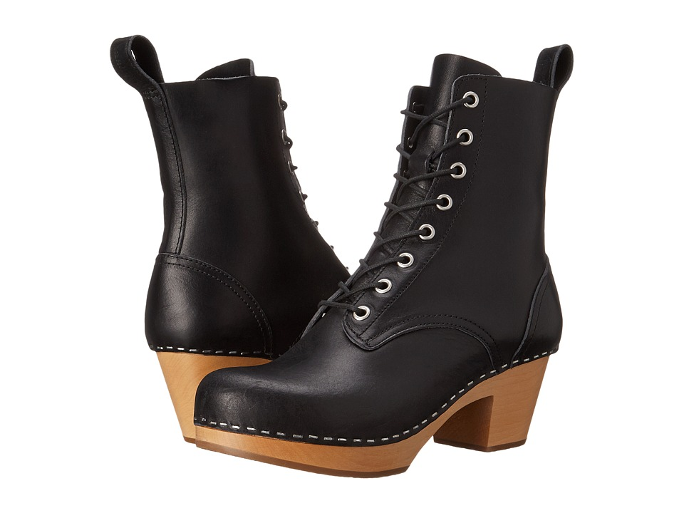 Swedish Hasbeens - Lillan (Black) Women's Lace-up Boots