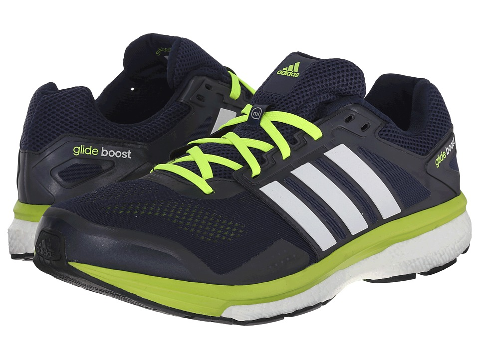 adidas Running - Supernova Glide Boost 7 (Collegiate Navy/White/Solar Yellow) Men's Shoes