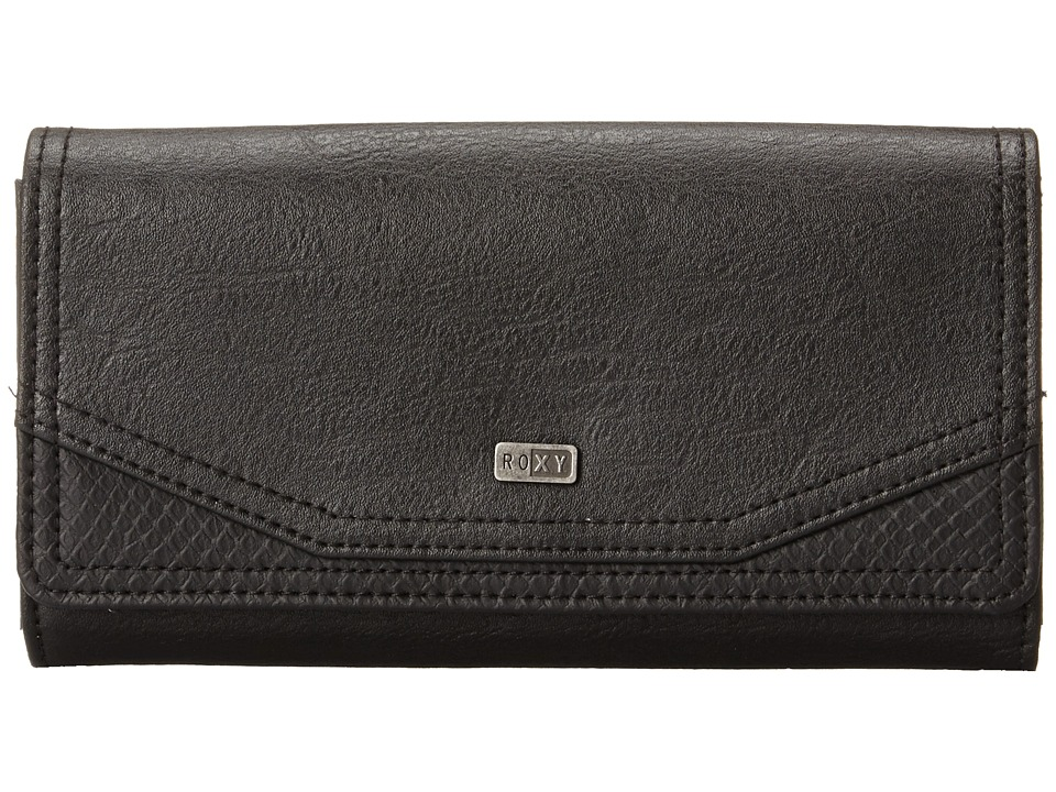 Roxy - Lean Back Wallet (True Black) Wallet Handbags