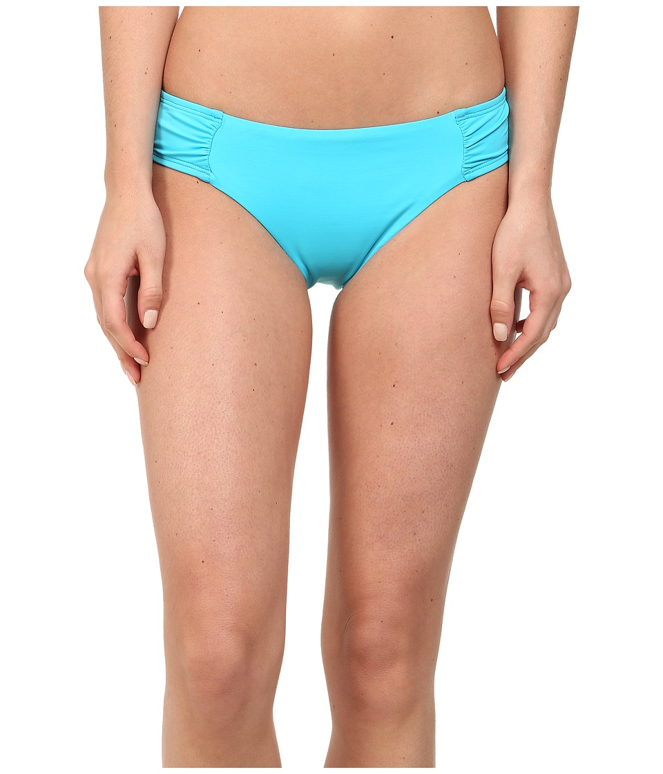 La Blanca - Solid Ruched Hipster (Pool) Women's Swimwear