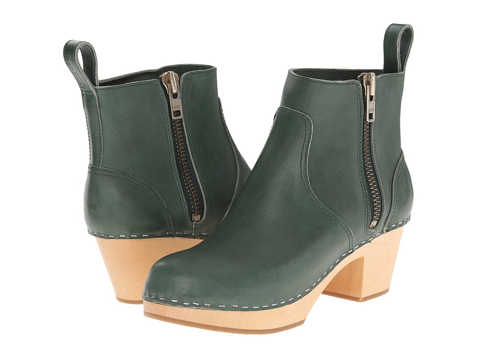 Swedish Hasbeens - Zip It Emy (Deep Green) Women