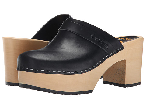 Swedish Hasbeens - Louise (Black) Women's Clog Shoes