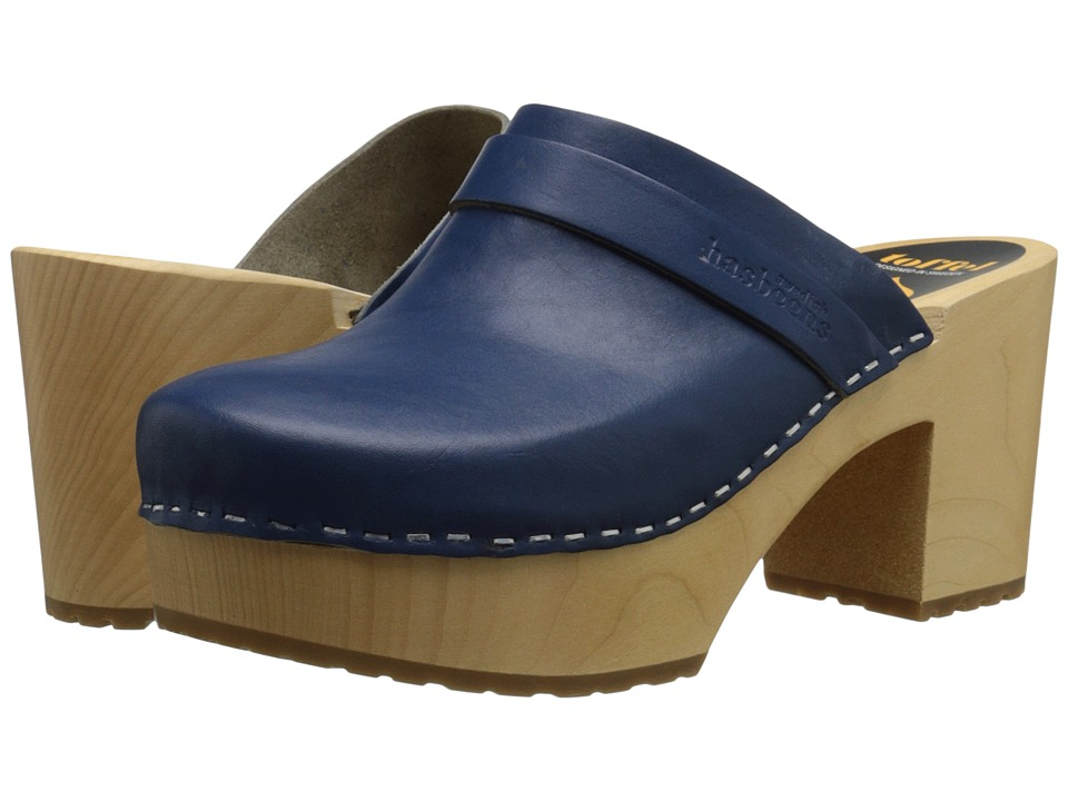 Swedish Hasbeens - Louise (Cobalt Blue) Women's Clog Shoes