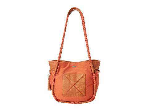 Roxy - Beats Canvas Shoulder Bag (Redwood) Shoulder Handbags