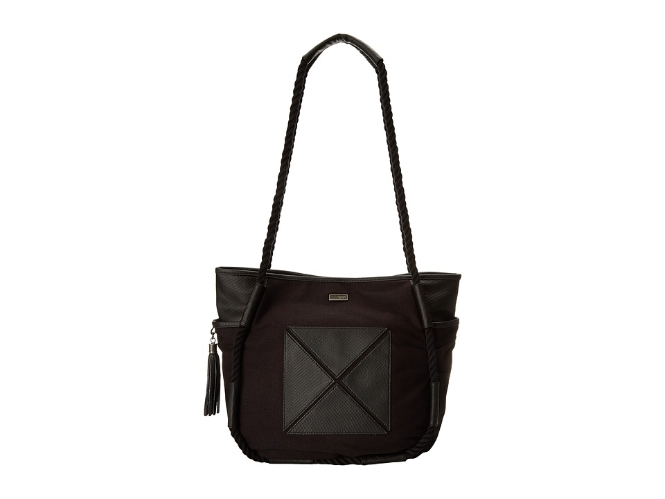 Roxy - Beats Canvas Shoulder Bag (True Black) Shoulder Handbags