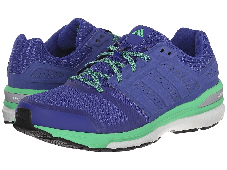 adidas Running - Supernova Sequence Boost 8 (Night/Night/Green) Women's Shoes