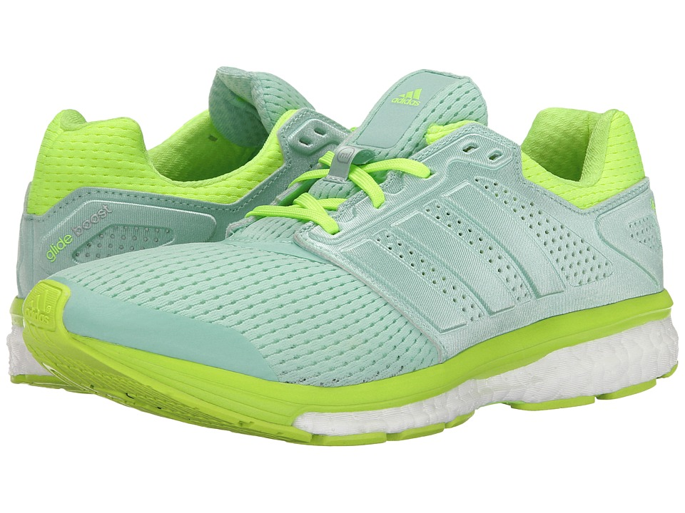 adidas Running - Supernova Glide Boost 7 (Green/Green/Solar Yellow) Women's Shoes