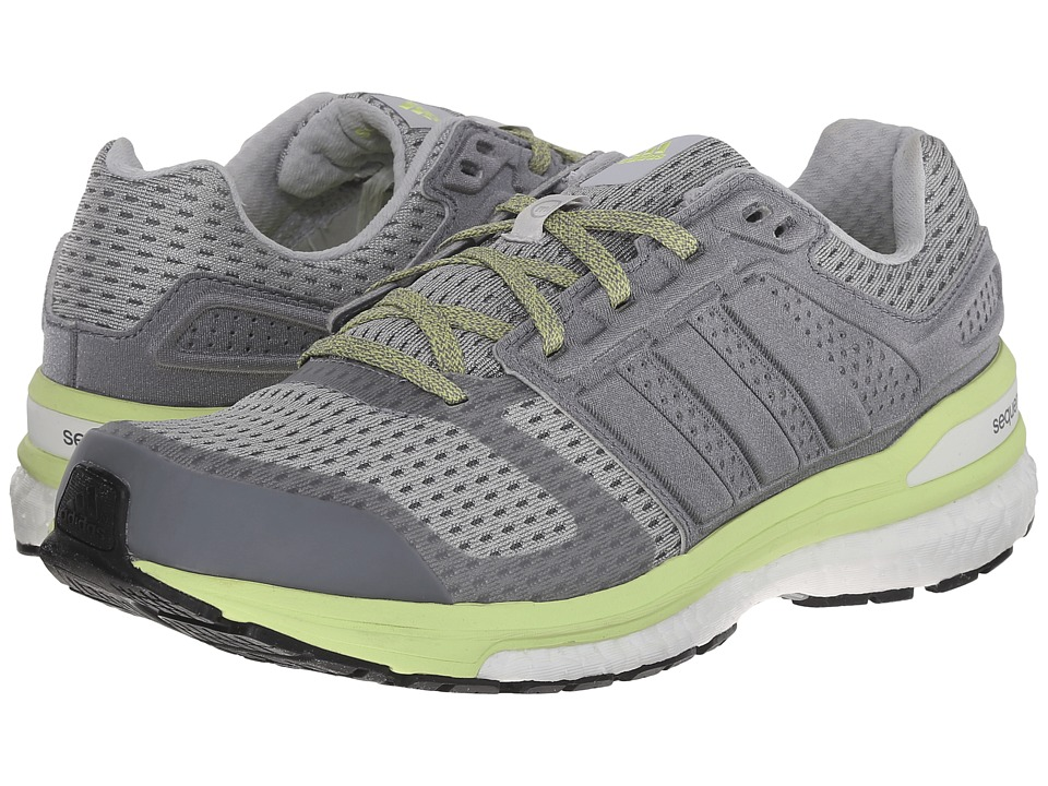 adidas - Supernova Sequence Boost 8 (Grey/White/Frozen Yellow) Women's Shoes