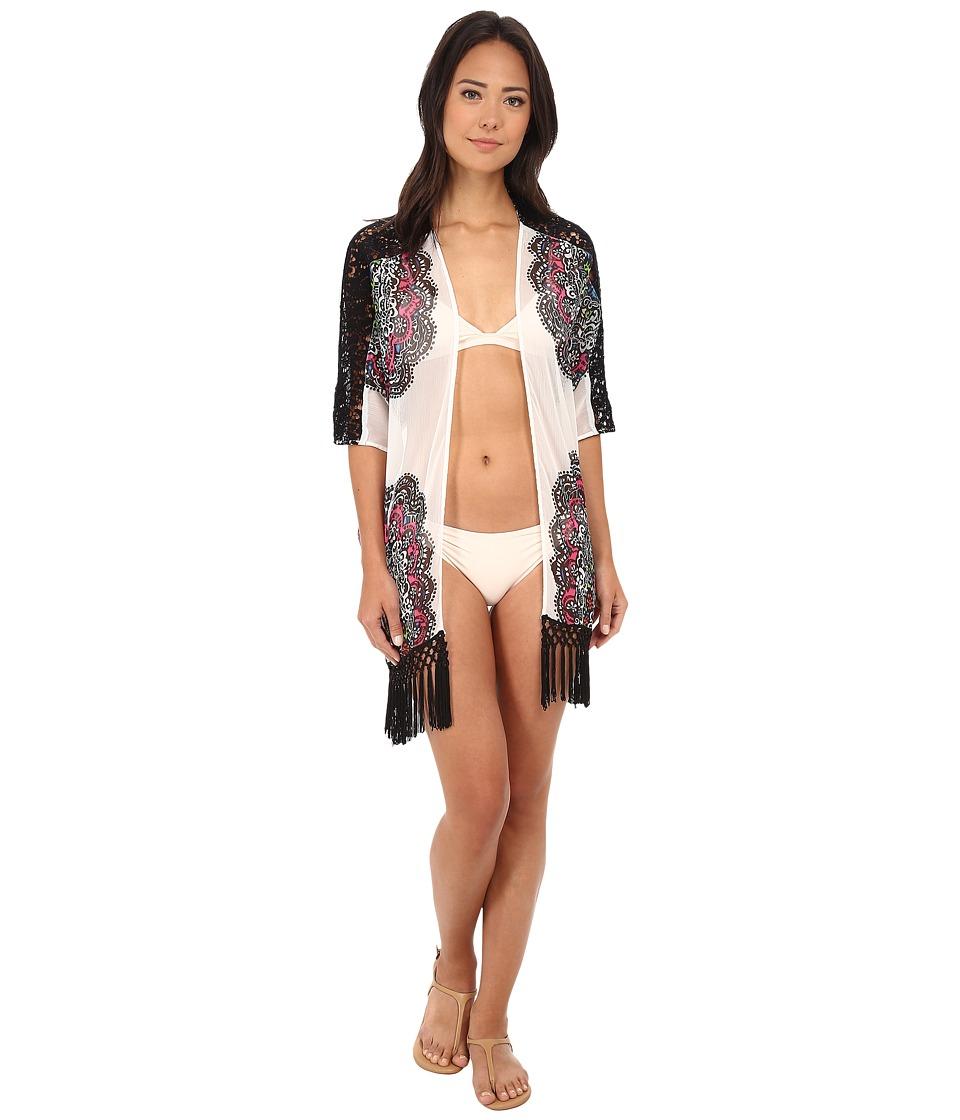 La Blanca - Medallon Kimono (White) Women's Swimwear