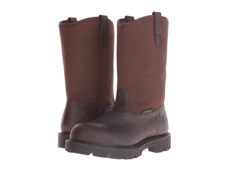 Georgia Boot Homeland 10 Wellington Waterproof ST (Brown) Men