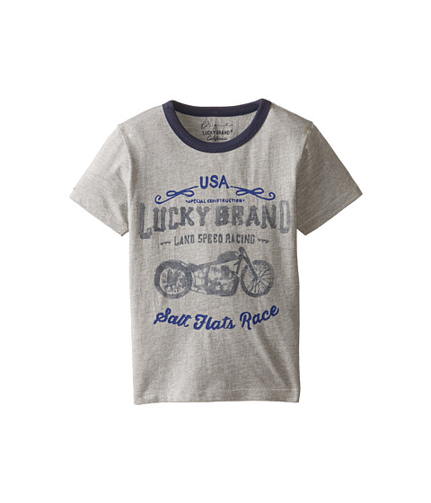 Lucky Brand Kids - Land Speed Tee (Little Kids/Big Kids) (Heather Light) Boy's T Shirt