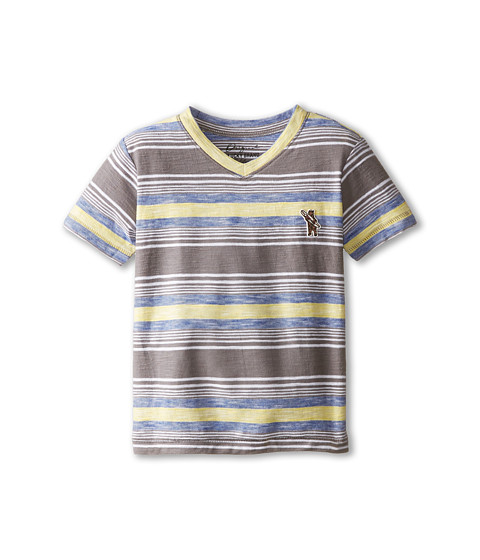 Lucky Brand Kids - The Hills V-Neck Tee (Toddler) (Charcoal) Boy