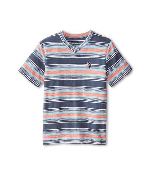 Lucky Brand Kids - The Hills V-Neck Tee (Big Kids) (Mood Blue) Boy