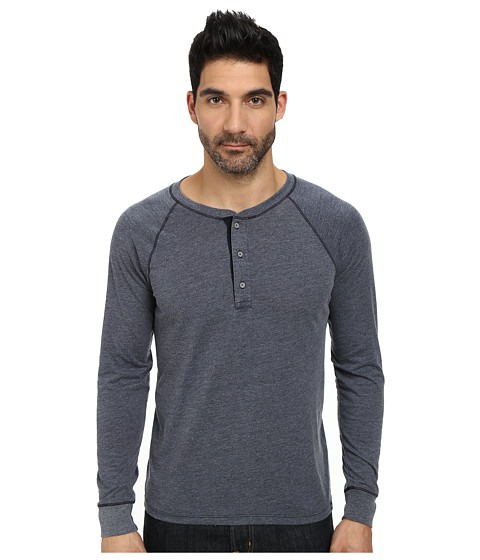 AG Adriano Goldschmied - Commute Rag Henley (Night Eclipse) Men's Clothing