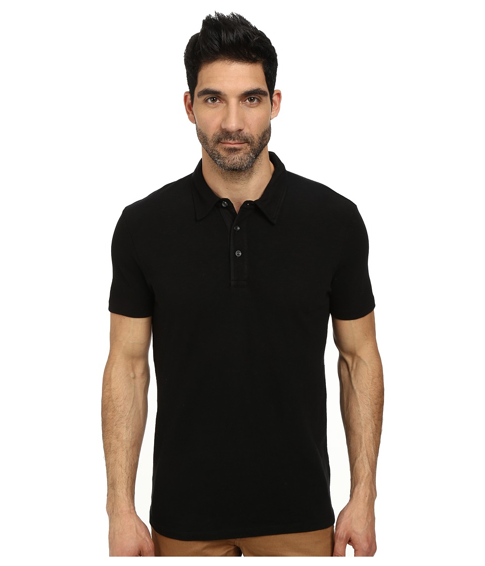 AG Adriano Goldschmied - Rhodes Polo (True Black) Men's Clothing