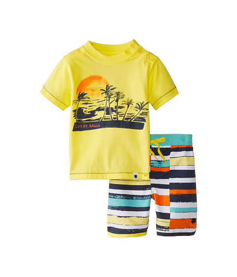Lucky Brand Kids - Catch The Sun Swim Set (Infant) (Lemonada) Boy's Swimwear Sets