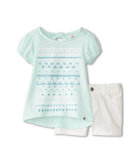 Lucky Brand Kids - Marty Stripe Set (Toddler) (Soothing Sea) Girl's Suits Sets