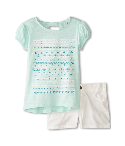 Lucky Brand Kids - Marty Stripe Set (Little Kids) (Soothing Sea) Girl