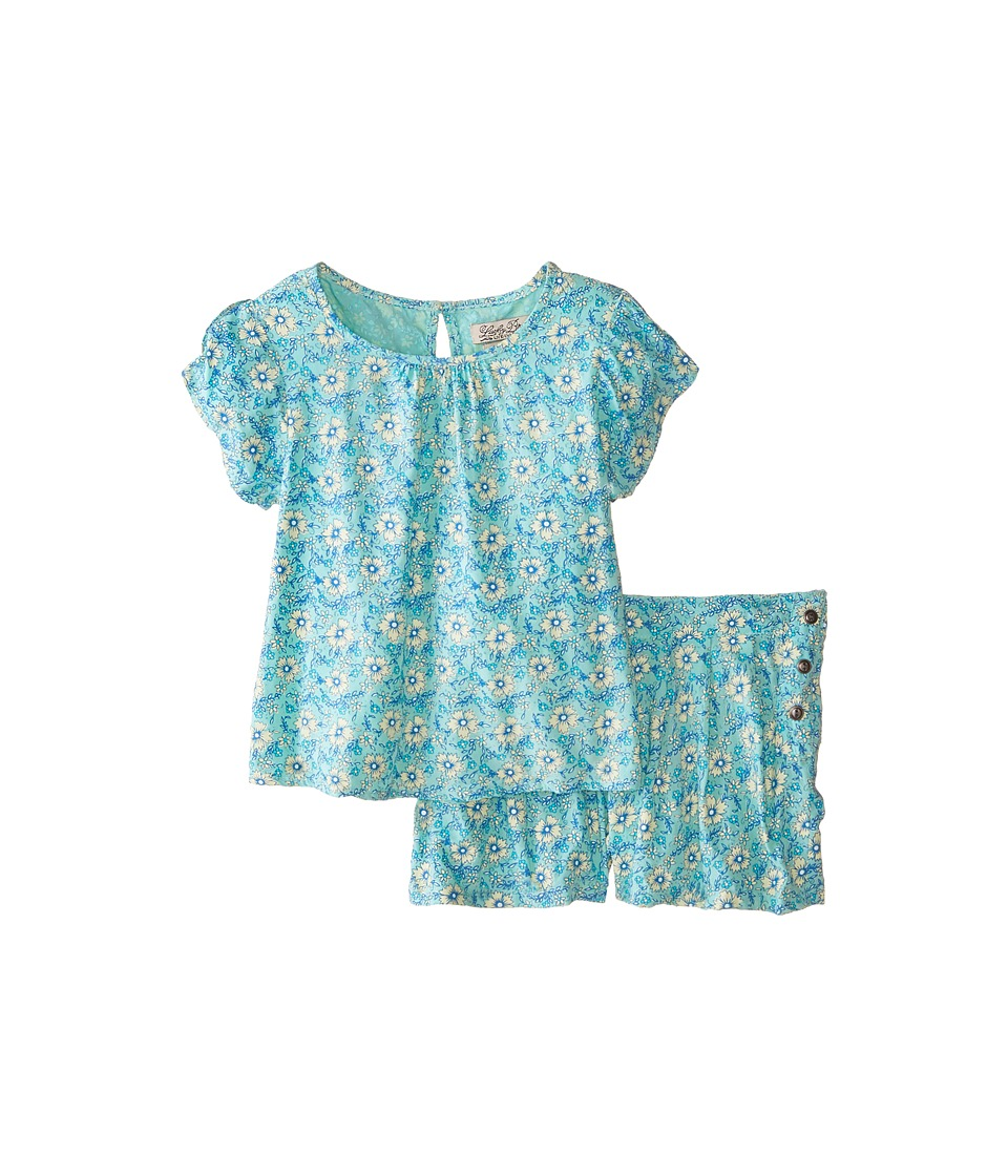 Lucky Brand Kids - Flora Set (Little Kids) (Soothing Sea) Girl's Suits Sets
