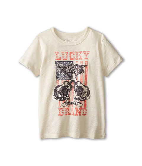 Lucky Brand Kids - Country Rock Fest Tee (Little Kids/Big Kids) (Turtledove) Boy