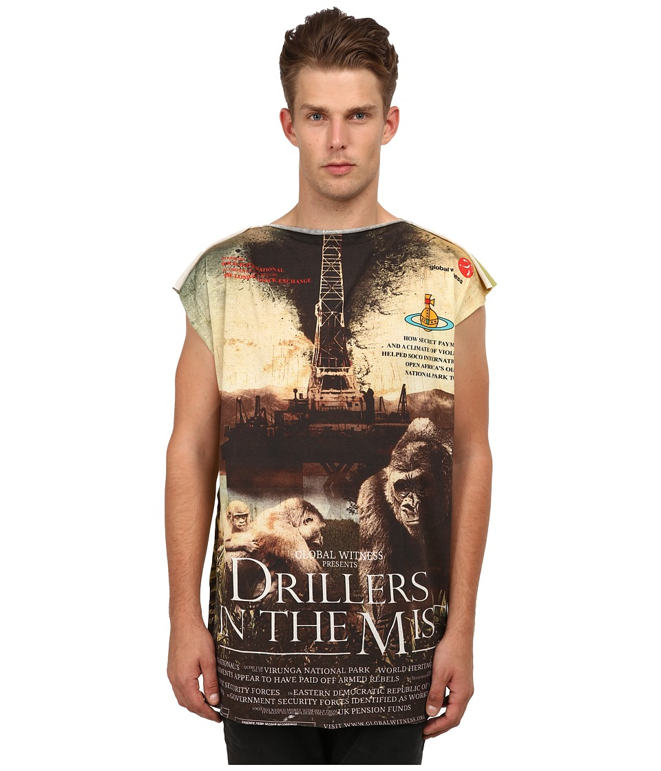 Vivienne Westwood MAN - Driller Square T-Shirt (Green) Men's T Shirt