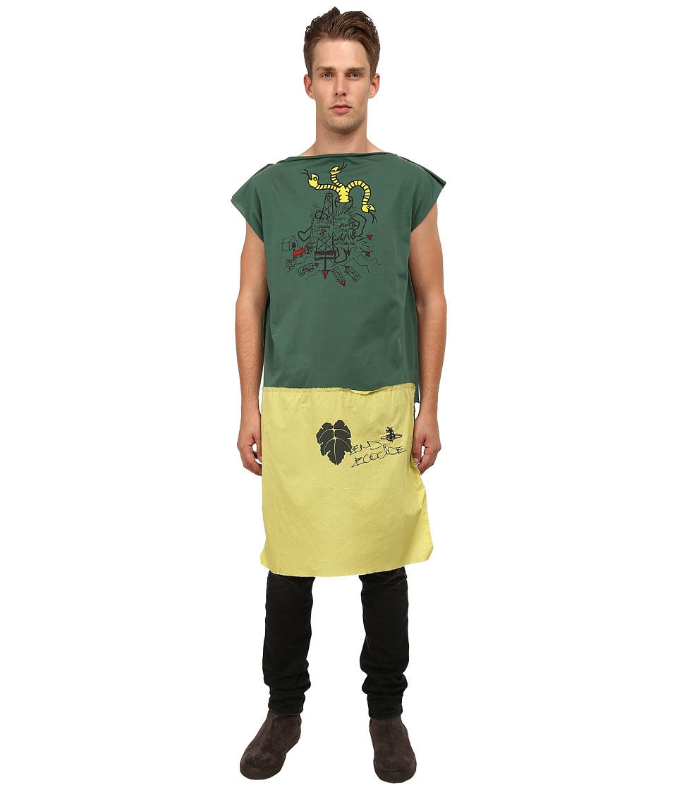 Vivienne Westwood - Ecocide Square T-Shirt (Green) Men's T Shirt