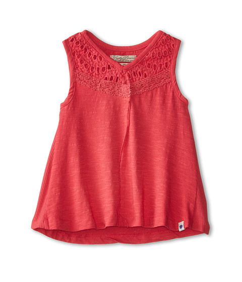 Lucky Brand Kids - Cindy Cat Out Tank Top (Toddler) (Geranium) Girl