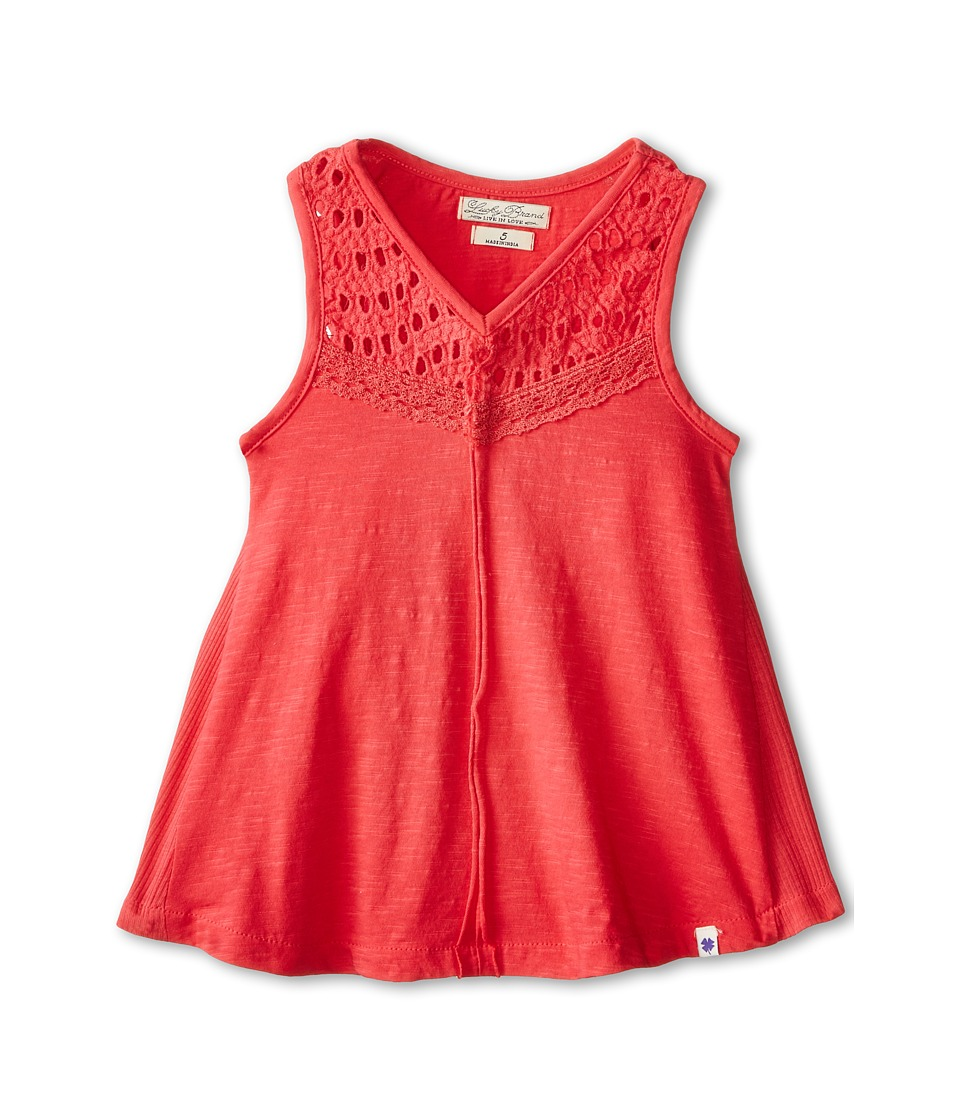 Lucky Brand Kids - Cindy Cat Out Tank Top (Little Kids) (Geranium) Girl