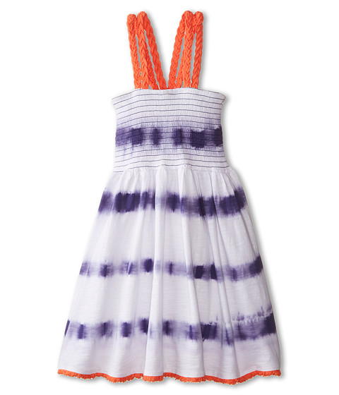 Lucky Brand Kids - Tie-Dye Stripe Smocked Dress (Little Kids) (Deep Wisteria) Girl