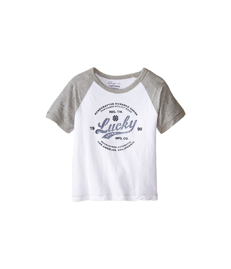 Lucky Brand Kids - Utility Raglan Tee (Toddler) (White) Boy's T Shirt