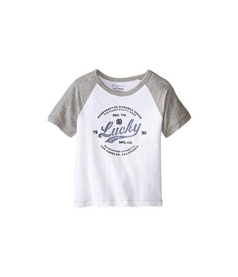 Lucky Brand Kids - Utility Raglan Tee (Toddler) (White) Boy