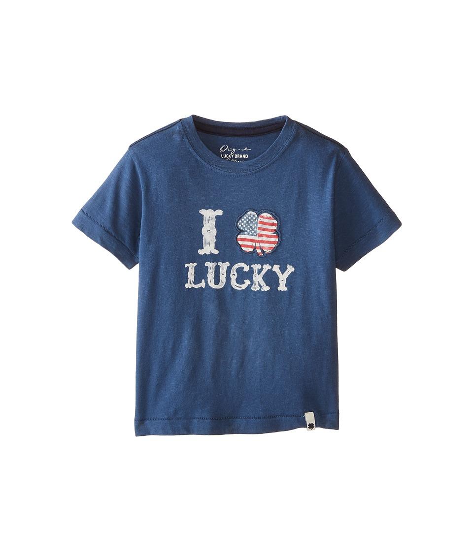Lucky Brand Kids - I Clover Tee (Toddler) (Ensign Blue) Boy