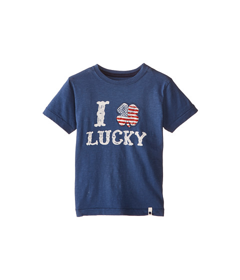 Lucky Brand Kids - I Clover Tee (Little Kids/Big Kids) (Ensign Blue) Boy
