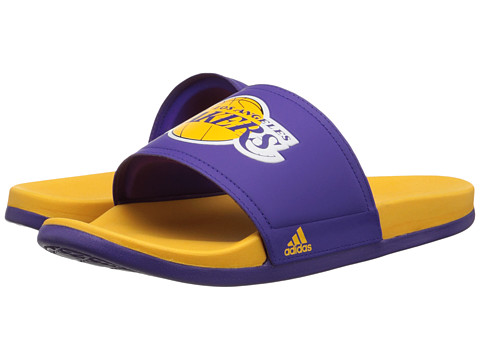 adidas - Adilette - LA Lakers (Regal Purple/Gold) Men