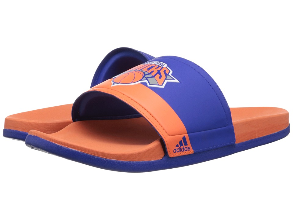 adidas - Adilette - NY Knicks (Blue/Orange/White) Men's Sandals
