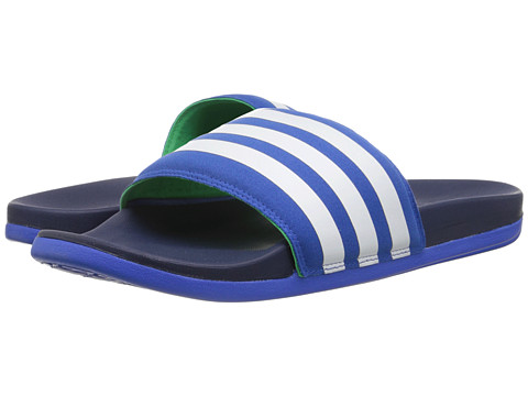 adidas - Adilette Supercloud Plus (Blue/White/Midnight Indigo) Men's Sandals