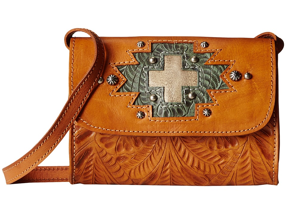 American West - Gameday Small Crossbody Bag (Harvest Tan/Turquoise/Sand) Cross Body Handbags