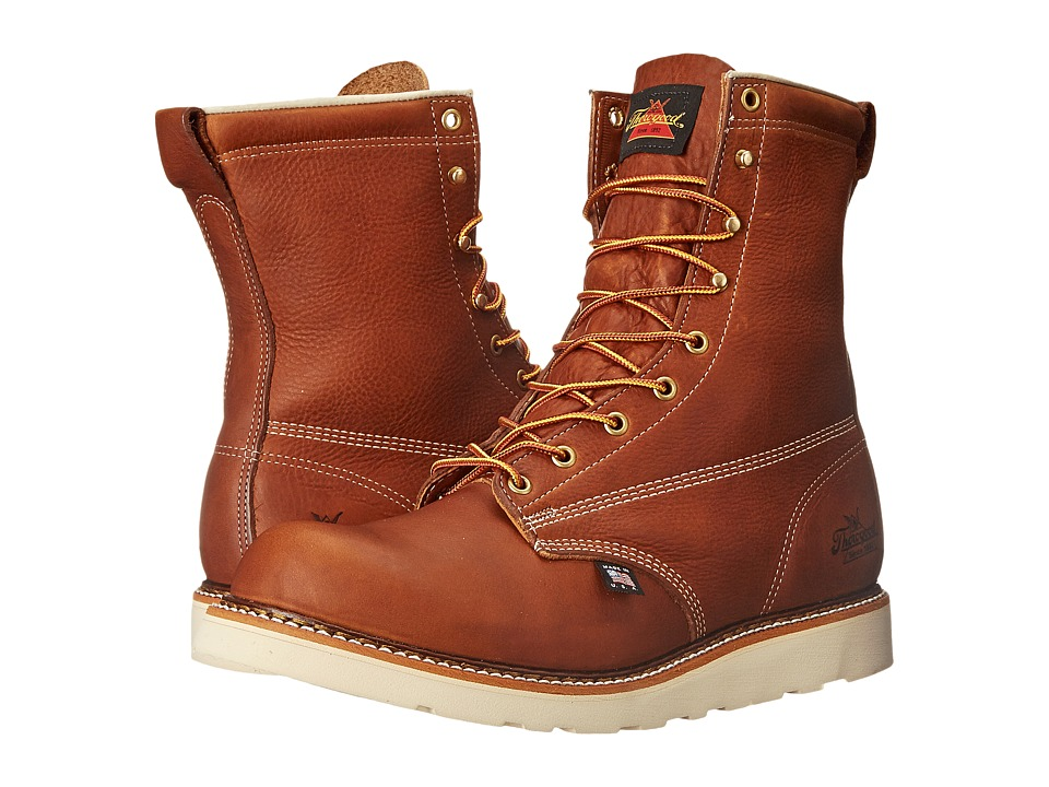 Thorogood - 8 Soft Toe Wedge (Tobacco) Men's Work Boots