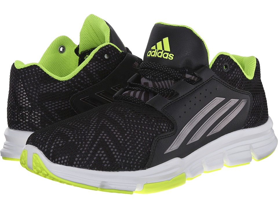 adidas - Gameday (Black/Iron Metallic/Solar Yellow) Men's Shoes