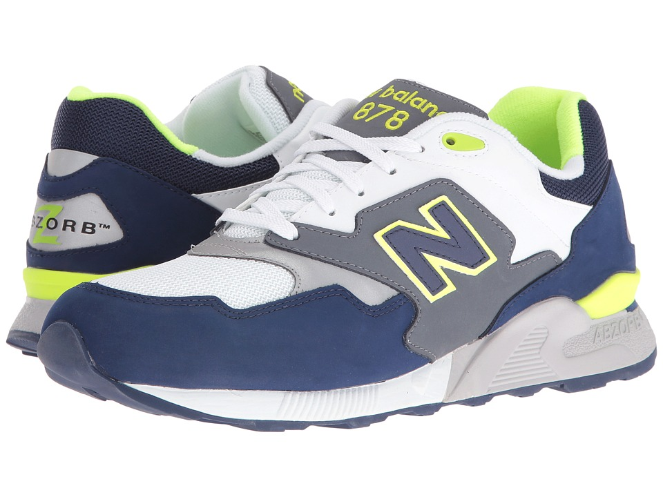New Balance - ML878 (Grey/Navy Leather/Mesh) Men's Classic Shoes