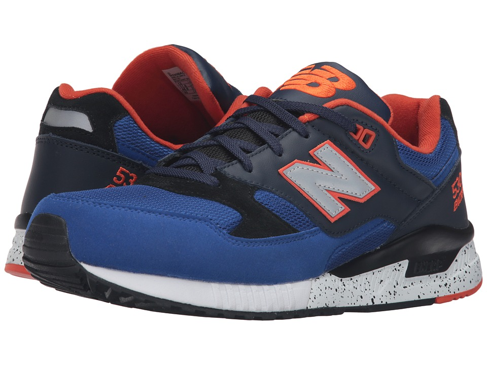 New Balance - M530 (Blue/Black Leather) Men's Classic Shoes